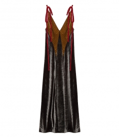 CLOTHES - VELVET ROBE DRESS