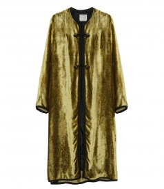 CLOTHES - SILK BLEND VELVETY COAT