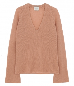 V NECK RELAXED CASHMERE PULLOVER
