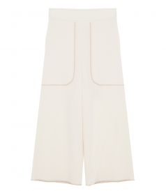 CLOTHES - WIDE LEG CROPPED TROUSERS