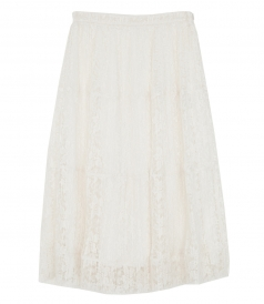 MICRO-PLEAT LACE SKIRT