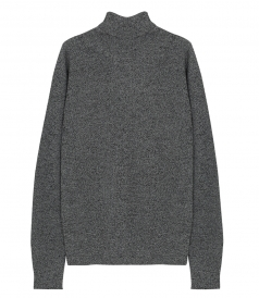 SIMON ROLL-NECK KNITTED SWEATER IN GREY