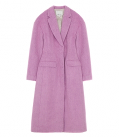 LONG TAILORED COAT IN CANDY PINK