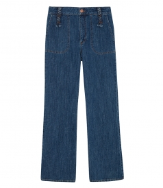 CLOTHES - RETRO FLARE CROPPED JEANS