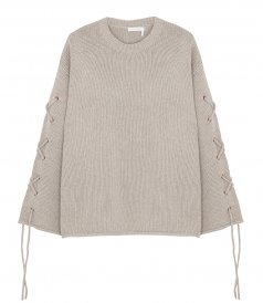 CROSS-TIE SLEEVE SWEATER