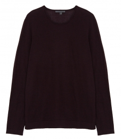 LIGHTWEIGHT CASHMERE CREWNECK WITH SUEDE ELBOW PATCHES