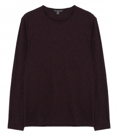 LONG SLEEVE KNIT CREWNECK T-SHIRT
