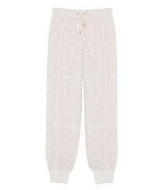 PERFORATED ARGYLE TRACK TROUSERS