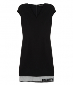 EQUALITY V-NECK DRESS
