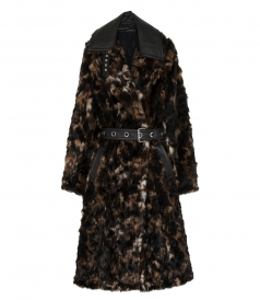 TORTOISE FUR COAT