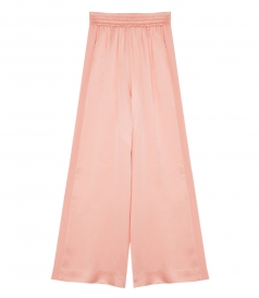 CLOTHES - SOPHIE WIDE-LEG SATIN TRACK PANTS