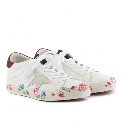 LOW TOP - SUPERSTAR SNEAKERS FT FLORAL PRINT DETAILING