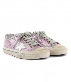 SHOES - V STAR SNEAKERS IN PINK GLITTER