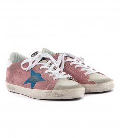 SHOES - SUPERSTAR SNEAKERS IN PINK FT BLUE SUEDE STAR