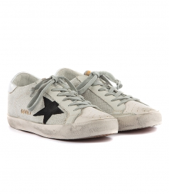 SUPERSTAR SNEAKERS IN CORD SILVER LUREX