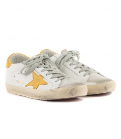 SUPERSTAR SNEAKERS FT YELLOW DETAILING