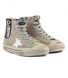 SHOES - V STAR SNEAKERS IN GREY FT WHITE CONTRASTING STAR