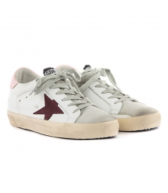 SUPERSTAR SNEAKERS FT PINK HILL TAB & BORDEAUX STAR
