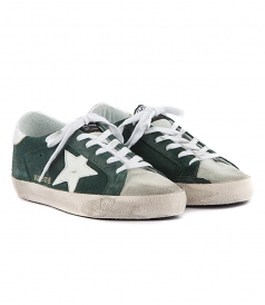 SHOES - SUPERSTAR SNEAKERS IN GREEN SUEDE
