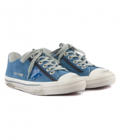 V STAR SNEAKERS IN BLUE SUEDE