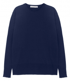SWEATSHIRTS - LLOYD COTTON SWEATER IN NAVY