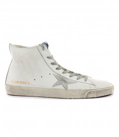 FRANCY SNEAKERS IN WHITE FT SILVER STAR