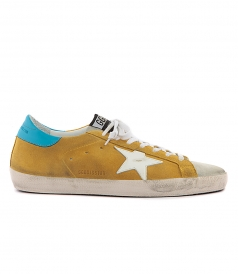 SUPERSTAR SNEAKERS IN YELLOW FT BLUE STAR