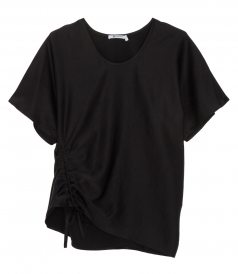 CLOTHES - ASYMMETRIC DRAPE FRONT TOP