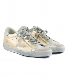 SUPERSTAR SNEAKERS IN METALLIC GOLD