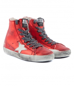 FRANCY SNEAKERS IN METALLIC RED