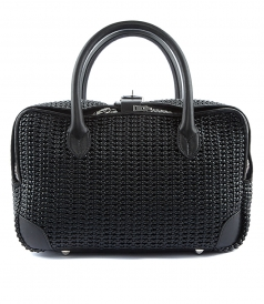 EQUIPAGE BAG IN WOVEN LEATHER