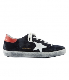 SUPERSTAR SNEAKERS IN BLUE SUEDE