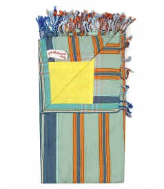 STRIPED MULTI COLORED BEACHTOWEL IN COTTON