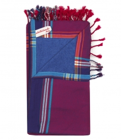 BEACH TOWELS - SOLID KIKOU MULTI COLORED BEACHTOWEL IN COTTON