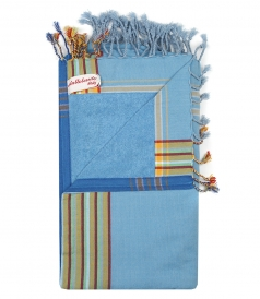 SOLID KIKOU MULTI COLORED BEACHTOWEL IN COTTON
