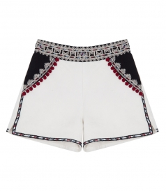 TAILORED EMBROIDERED SHORTS