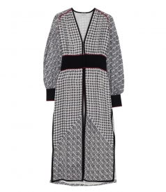 SCARF PRINT TABIA ROBE DRESS