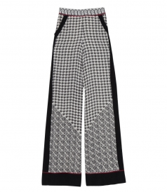 SCARF PRINT WIDE LEG PANTS