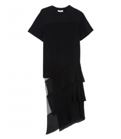 TIERED-PANEL T-SHIRT