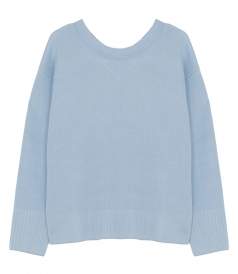 LONG SLEEVE TEXTURED SILK PULLOVER