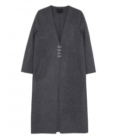 LONG CARDIGAN COAT WITH HOOK