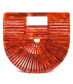 ACRYLIC AGACATE ARK CLUTCH BAG