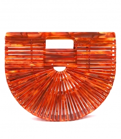 ARK AGACATE ACRYLIC MINI BAG IN RED