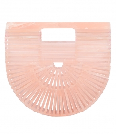 ACRYLIC ARK CLUTCH IN PINK
