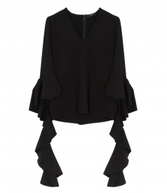 SALES - ACE FRILL SLEEVE V NECK BLOUSE