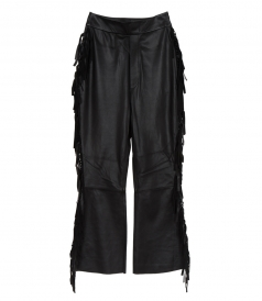 SALES - TOMAHAWK FRINGED LEATHER PANTS
