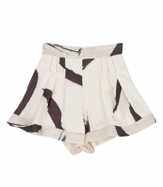 PAITNED HEART SILK SHORTS