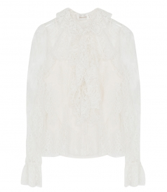 PAINTED HEART LACE BLOUSE