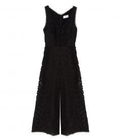 HELM EYLET VINE JUMPSUIT IN BLACK