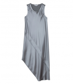LACQUERED SILK TANK DRESS